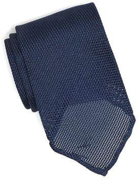 Drakes Drake's Solid Blue Gabardine Tie