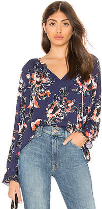 Splendid Painted Floral Blouse
