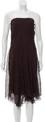 Ralph Lauren Silk Midi Skirt Brown Silk Midi Skirt