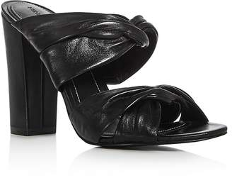 KENDALL and KYLIE Demy Strappy High Heel Slide Sandals $150 thestylecure.com