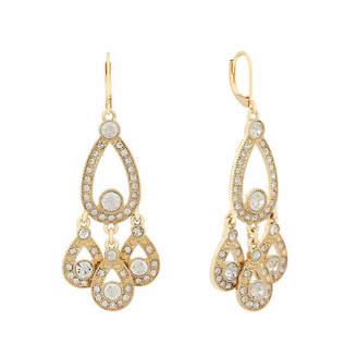 MONET JEWELRY Monet Jewelry White Pear Chandelier Earrings