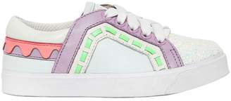 Sophia Webster Riko Mini Leather & Glitter Sneakers
