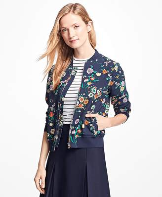 Floral Bomber Jacket $198 thestylecure.com