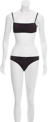 Dion Lee Mesh-Accented Two-Piece Swimsuit w/ Tags