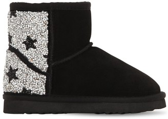 Colors of California EMBELLISHED SUEDE ANKLE BOOTS