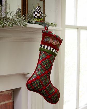 Mackenzie Childs MacKenzie-Childs Holiday Tartan Christmas Stocking & Tree Skirt