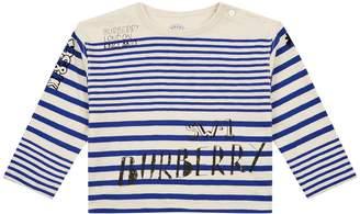 Burberry SW1 Stripe Print T-Shirt