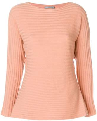Vince ribbed boat neck jumper