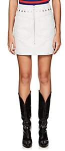"Givenchy Women's Leather ""Backwards"" Miniskirt - White"