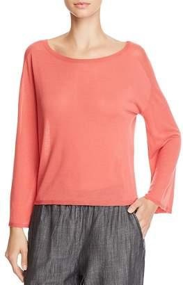 Eileen Fisher Lightweight Boat-Neck Sweater