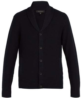Rag & Bone Cardiff Shawl Lapel Wool Blend Cardigan - Mens - Navy