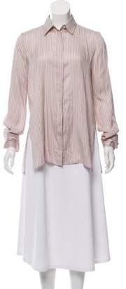 The Row Silk Button-Up Top