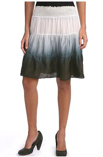 Kimchi & Blue Tie Dye Tiered Silk Skirt