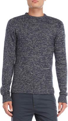 Fresh Brand Marled Mixed Stitch Sweater