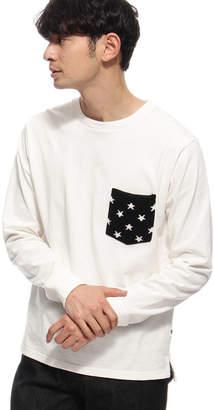 BASE STATION (ベース ステーション) - ベース ステーション 【WEB限定】ポケットニット 星 ボーダー 長袖Tシャツ