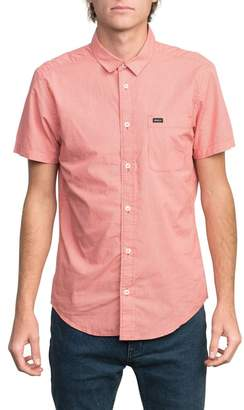 RVCA That'll Do Micro Check Slim Fit Shirt