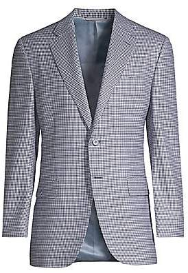 Canali Men's Check Wool Jacket