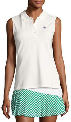 Tory Sport Performance Piqué Sleeveless Polo Shirt