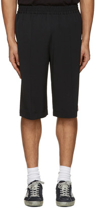 MSGM Black Striped Track Shorts $415 thestylecure.com
