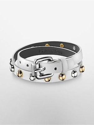 Calvin KleinCalvin Klein Womens Adventurous Leather Bracelet White S