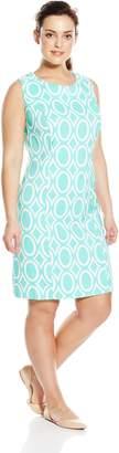 Amy Byer Women's Plus Size Womans Figuring Flattering Sheath Dress
