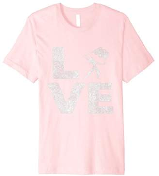 Love Color Guard Winter Guard Twirling T-Shirt