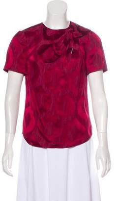 Isabel Marant Patterned Short Sleeve Top