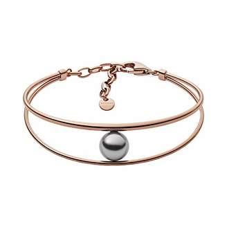 Skagen Women's Agnethe Rose-Tone Gray Pearl Bracelet