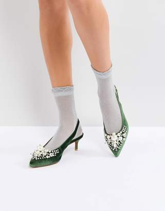 Essentiel Antwerp Pastis Heeled Shoes With Pearls
