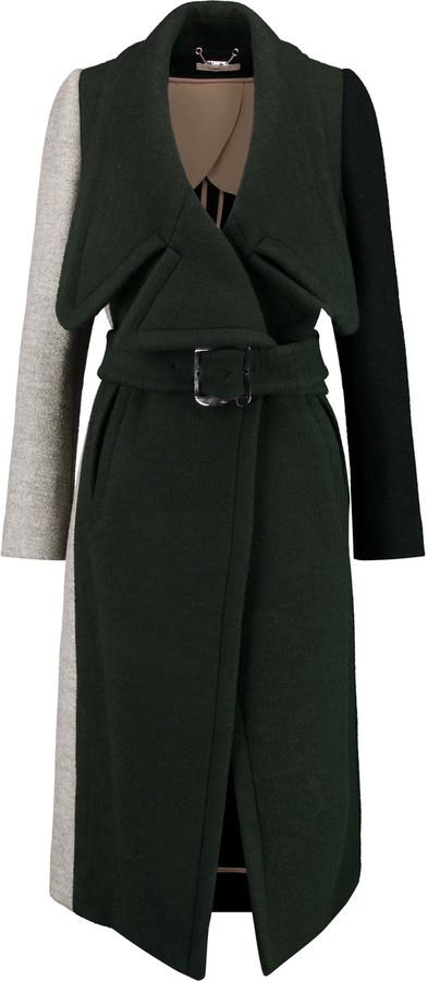 Chloé Chloé Color-block wool-blend coat