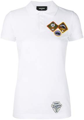 DSQUARED2 patch appliqué polo shirt
