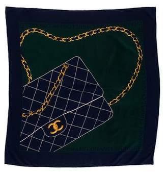 Chanel Silk Classic Flap Scarf