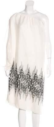 Thomas Wylde Silk One-Shoulder Dress w/ Tags