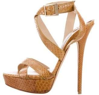 Jimmy Choo Snakeskin Strappy Sandals
