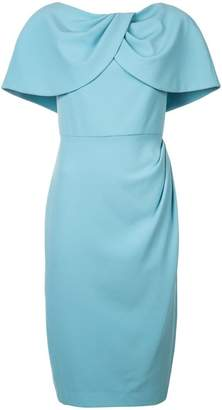 Christian Siriano cape fitted dress