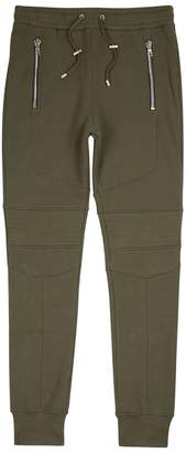 Balmain Green Cotton Jogging Trousers