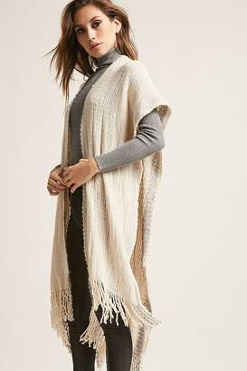 Forever 21 Open-Front Purl-Knit Poncho