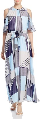 Calvin Klein Printed Cold Shoulder Maxi Dress $129.50 thestylecure.com