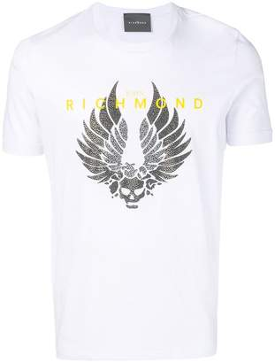 John Richmond Skull Wings print T-shirt