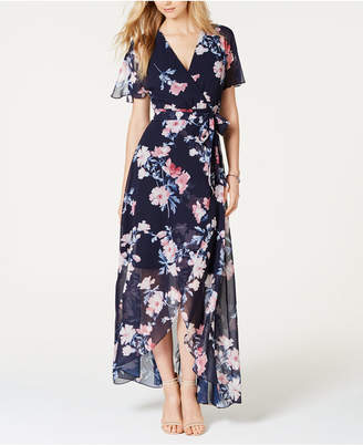 7a79cc35968f1 Jessica Howard Floral-Print Faux-Wrap Maxi Dress
