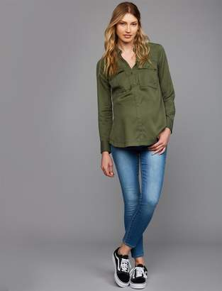 Articles of Society Secret Fit Belly Heather Crop Maternity Jeans