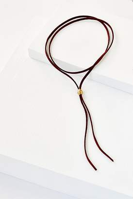 Erth Jewelry Short Leather Wrap Bolo Necklace