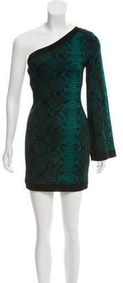 Balmain Jacquard One-Shoulder Dress