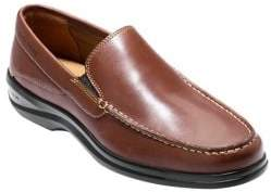 Cole Haan Moc Toe Leather Leather Loafers