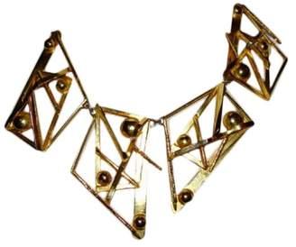 Alexis Bittar Abstract Metal Bib Necklace