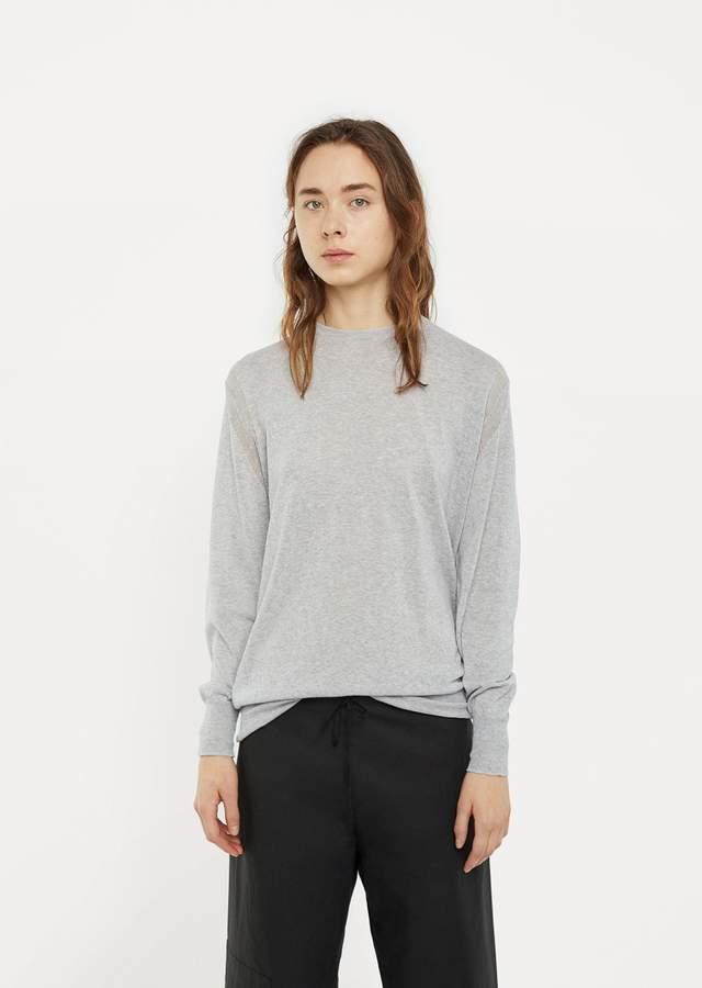 La Garçonne Moderne Elle Crewneck Sweater Light Heather Grey