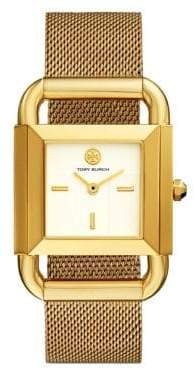 Tory Burch The Phipps Mesh Gold-Tone Watch