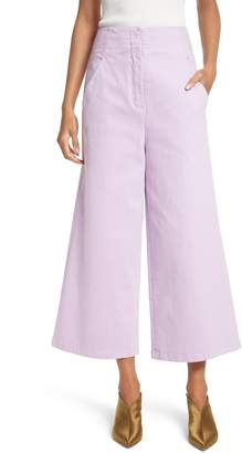 Tibi Wide Leg Crop Denim Pants