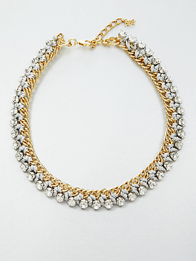 ABS by Allen Schwartz Faceted Stitched Chain Link Necklace