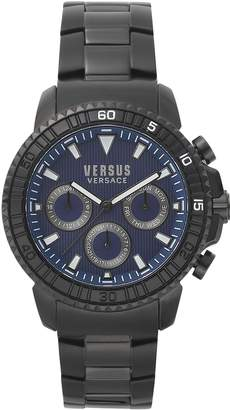 Versus By Versace Men's Fashion Aberdeen Chrono Dial Stainless Steel IP Black Bracelet Watch (Model:S30090017)